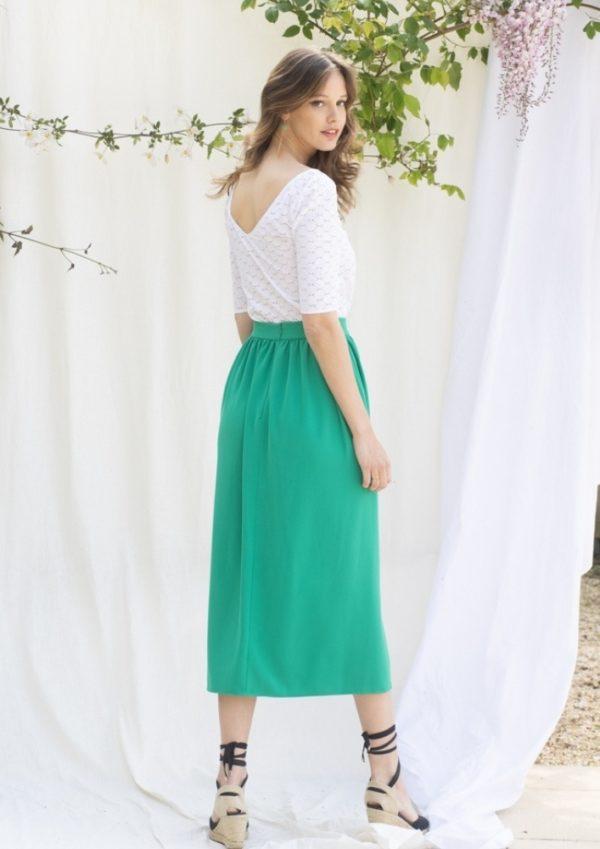 jupe plissée longue