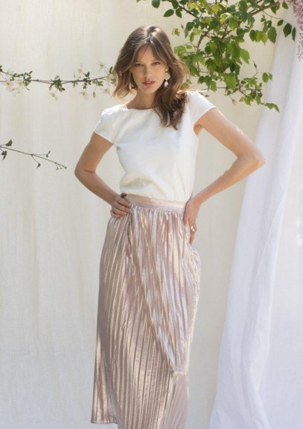 jupes plissées longue