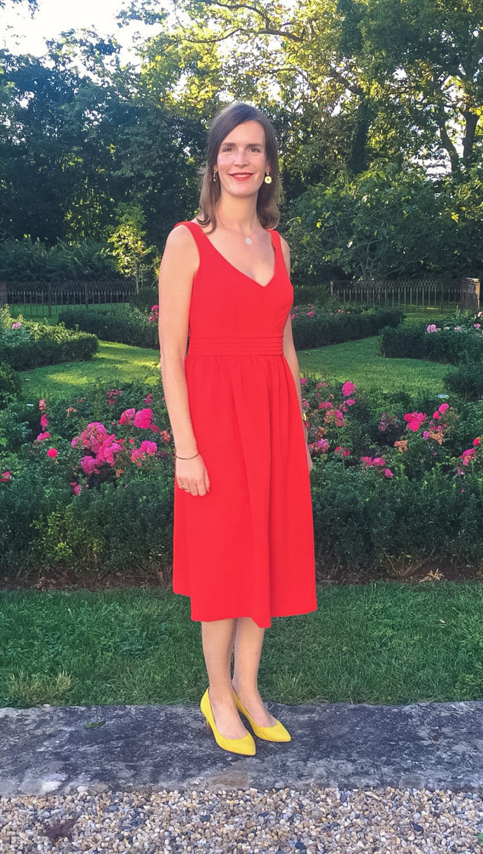 Robe rouge Aurélie